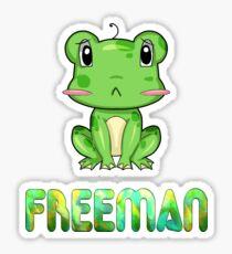 Freeman Frog Sticker