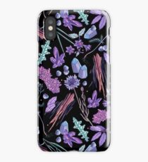 Purple flowers and jewels. iPhone Case/Skin