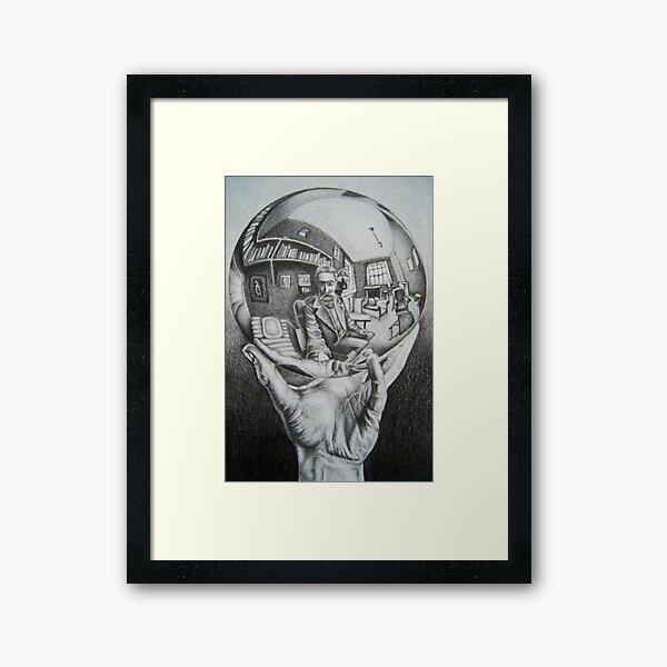 Escher Drawing Framed Art Print