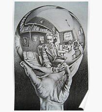 Escher Zeichnung Poster