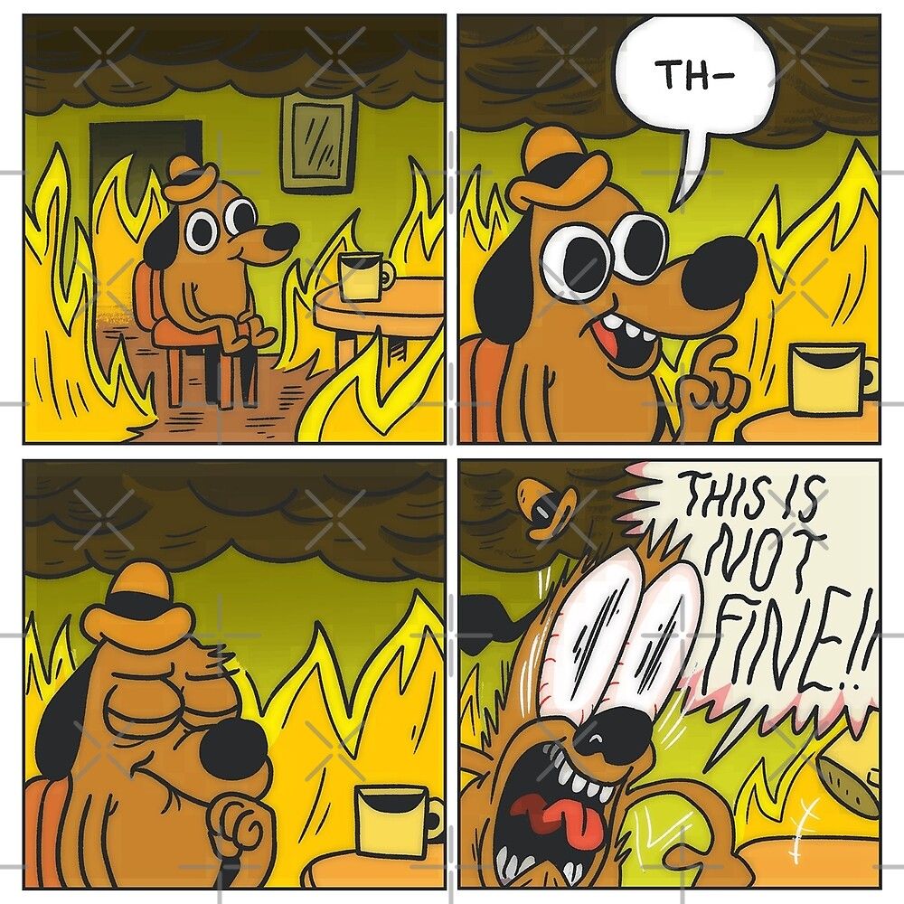 This is Not Fine! (4 Panel Comic) 2016\