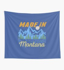 Made in Montana Landscape Camping design Wall Tapestry