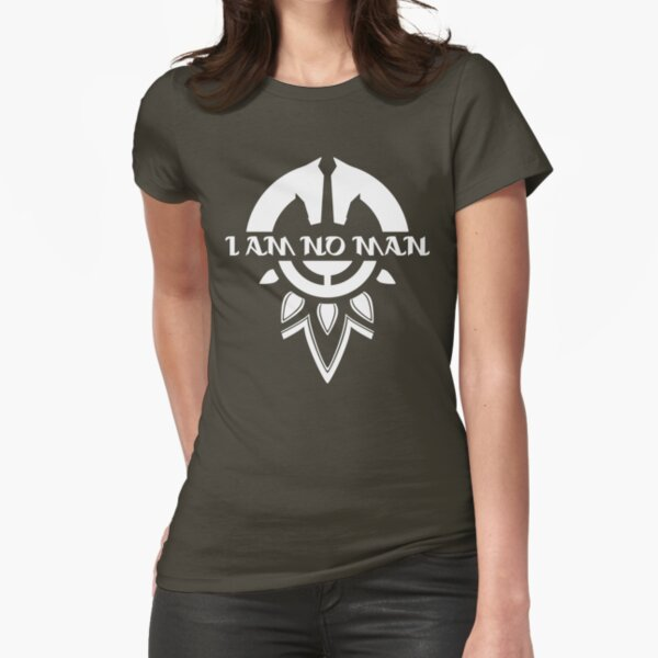 I Am No Man Fitted T-Shirt