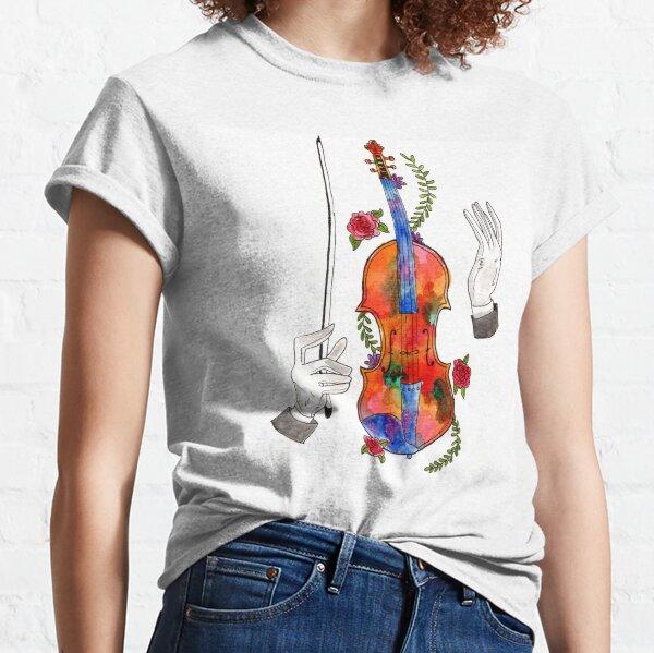 Watercolor Violin Classic T-Shirt