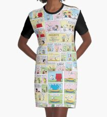 Peanuts Comics Graphic T-Shirt Dress