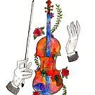 Watercolor Violin by DezSchwartz