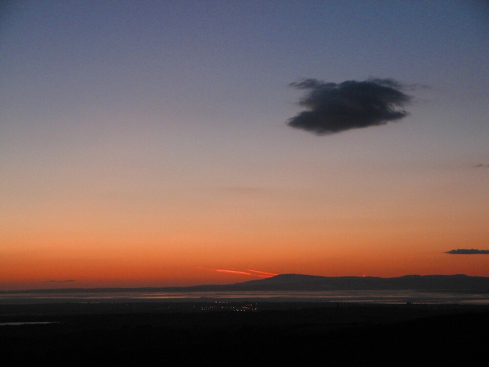 Cloud at sunset over Morecambe Bay by Andmole