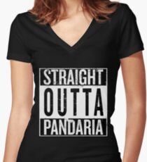 Straight outta Pandaria Women's Fitted V-Neck T-Shirt