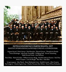 Albert Einstein Solvay Conference 1927 Photographic Print