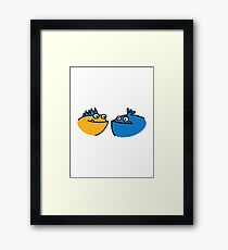 Cute funny monster Framed Print