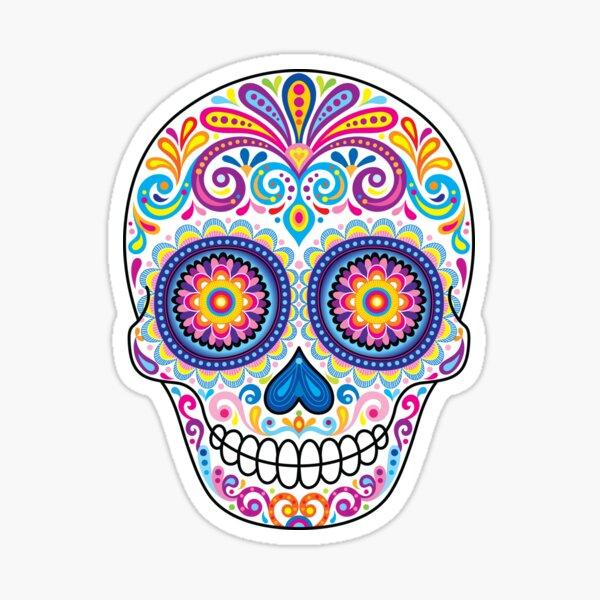 Sugar Skull Art (Cosmos) Sticker