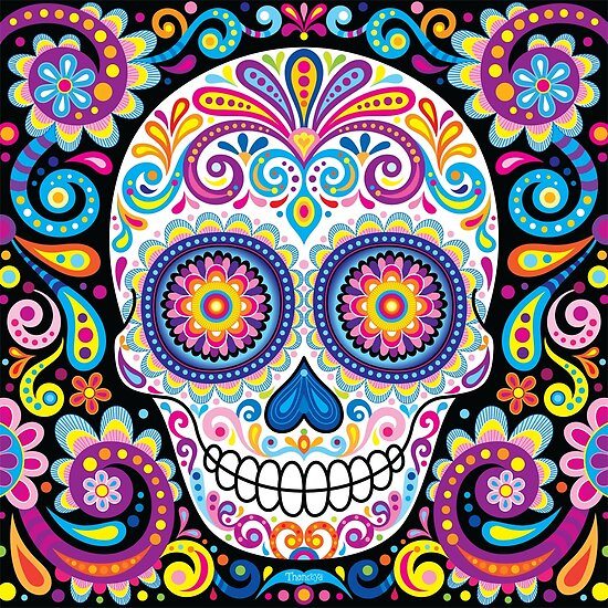 Quot Sugar Skull Art Cosmos Quot Poster By Thaneeya Redbubble