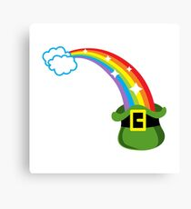 Leprechaun`s lucky hat Canvas Print