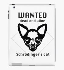 Wanted Ded and Alive Schrödinger's cat iPad Case/Skin