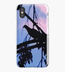 Mourning Dove in Silhouette iPhone Case