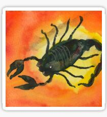 Scorpio Zodiac Horoscope Painting Sticker