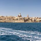Looking back to Valletta from Sliema Ferry by Kasia-D
