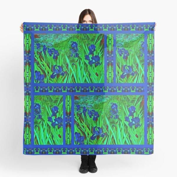 Blue Irises Scarf