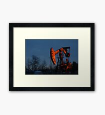 Copper and Black Gold Framed Print