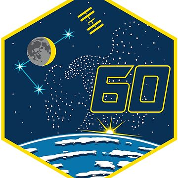 Expedition 60 Logo: Tribute to Apollo 11 by Spacestuffplus