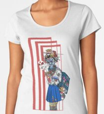 cyberpunk girl Women's Premium T-Shirt