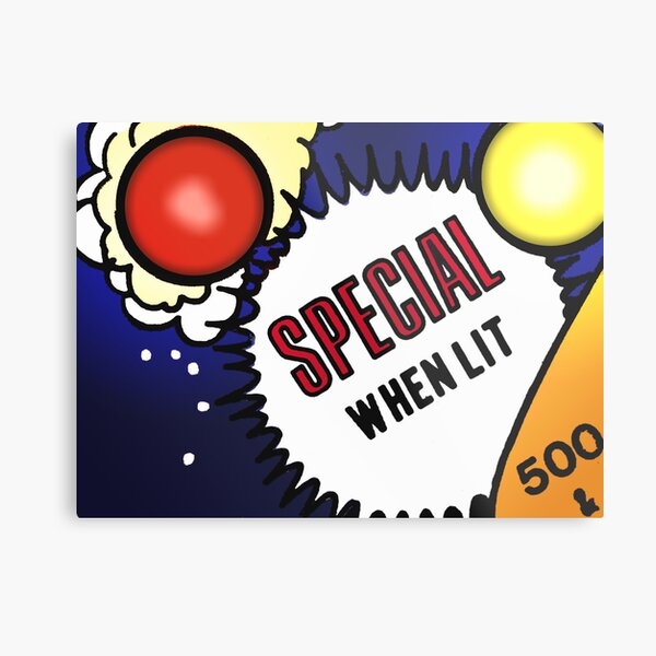 Special When Lit Metal Print