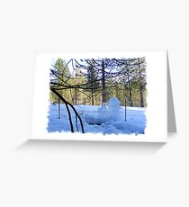 Frozen Fence-cicles Greeting Card