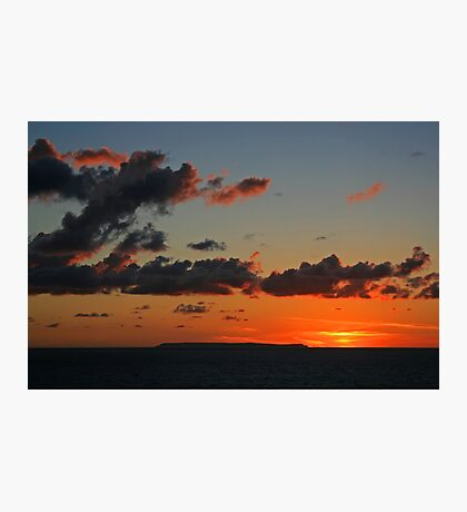 Lundy Sunset Photographic Print