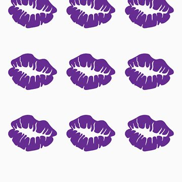 3 x 3 Purple Kisses by LoveDove