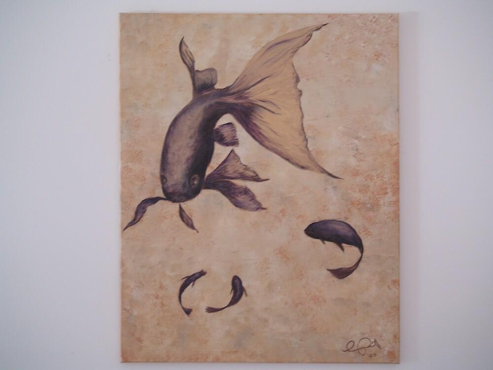 Society goldfish by Cathy Osborne