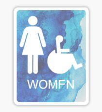 Am I a Womfn??? Sticker