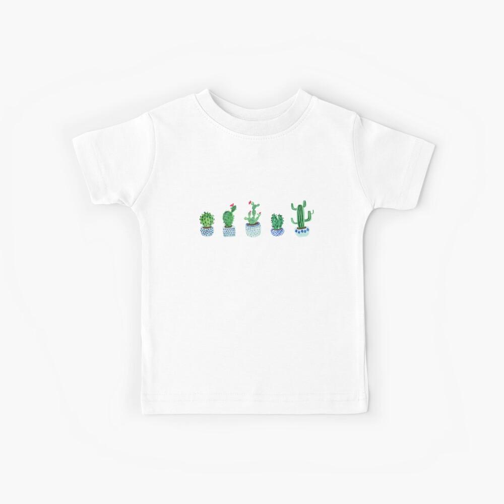 Cactus en acuarela Camiseta para niños