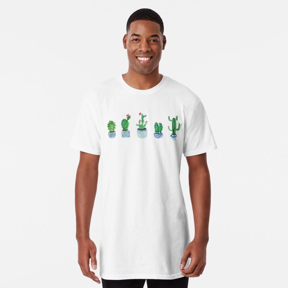 Cactus en acuarela Camiseta larga