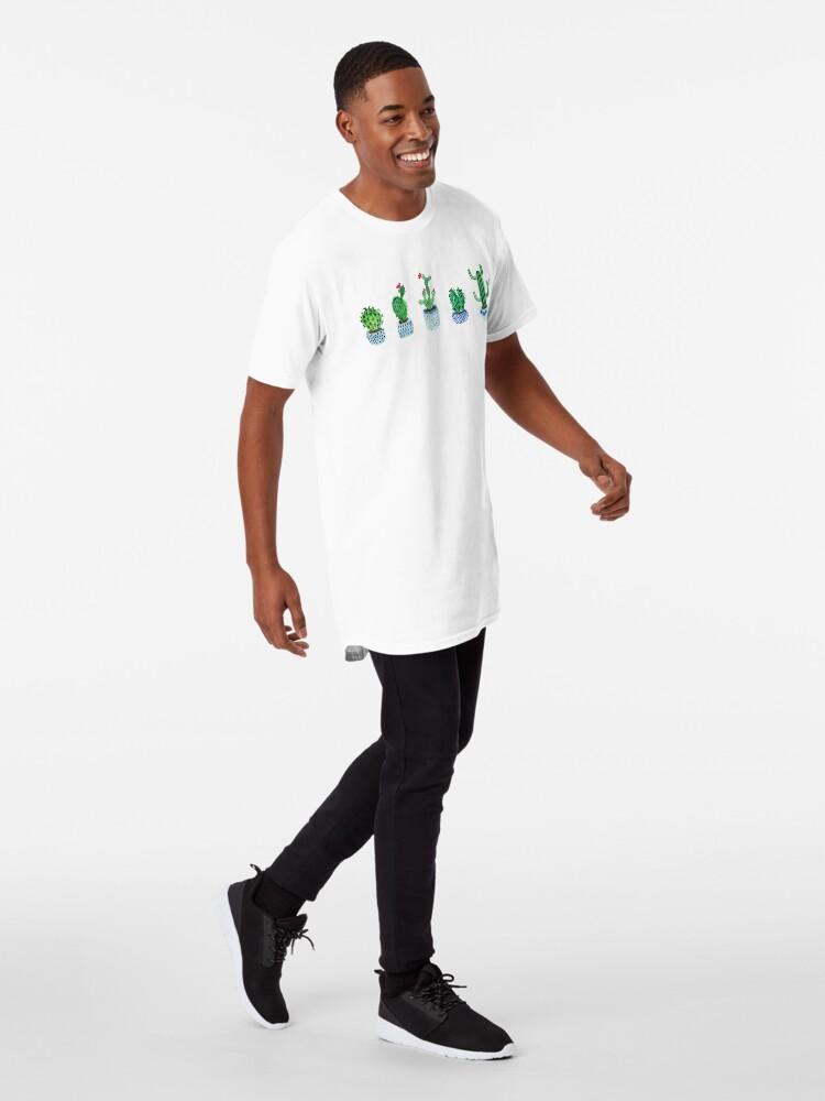 Vista alternativa de Camiseta larga Cactus en acuarela