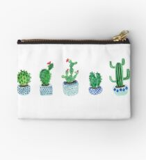 Cactus in watercolor Zipper Pouch