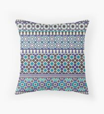 Alhambra Tessellations - Turquoise, Violet and grey on white by Cecca Designs Floor Pillow