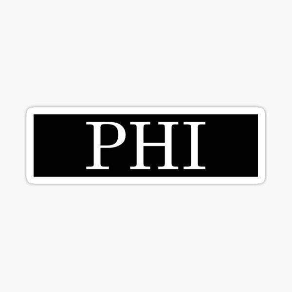 phi bar Sticker