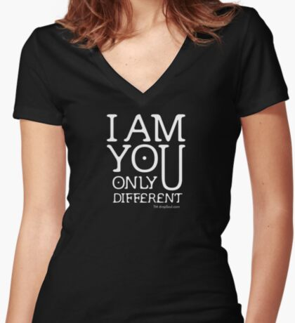 I am you, only different. (REMIX) Women's Fitted V-Neck T-Shirt