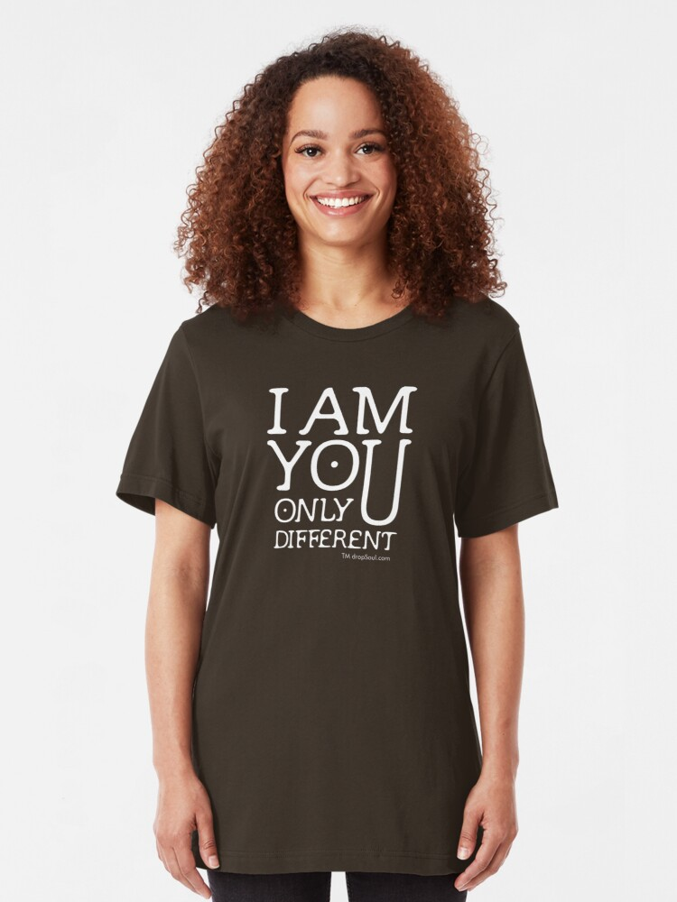 Alternate view of I am you, only different. (REMIX) Slim Fit T-Shirt