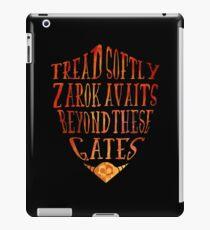 Zarok Awaits iPad Case/Skin