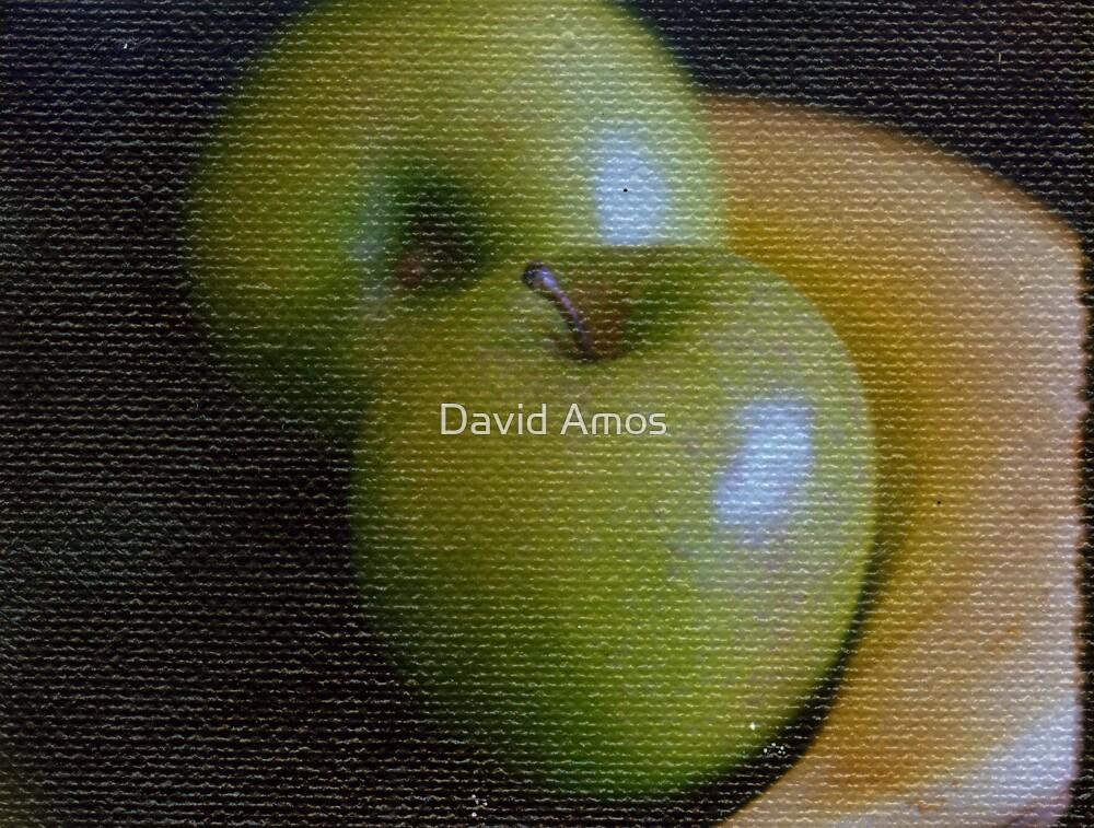 Apples & Bananas on Canvas by David Amos