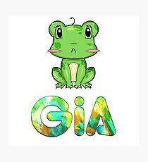 Gia Frog Photographic Print