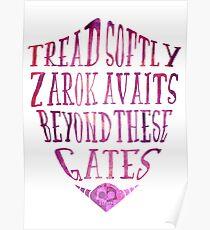 Zarok Awaits (Purple) Poster