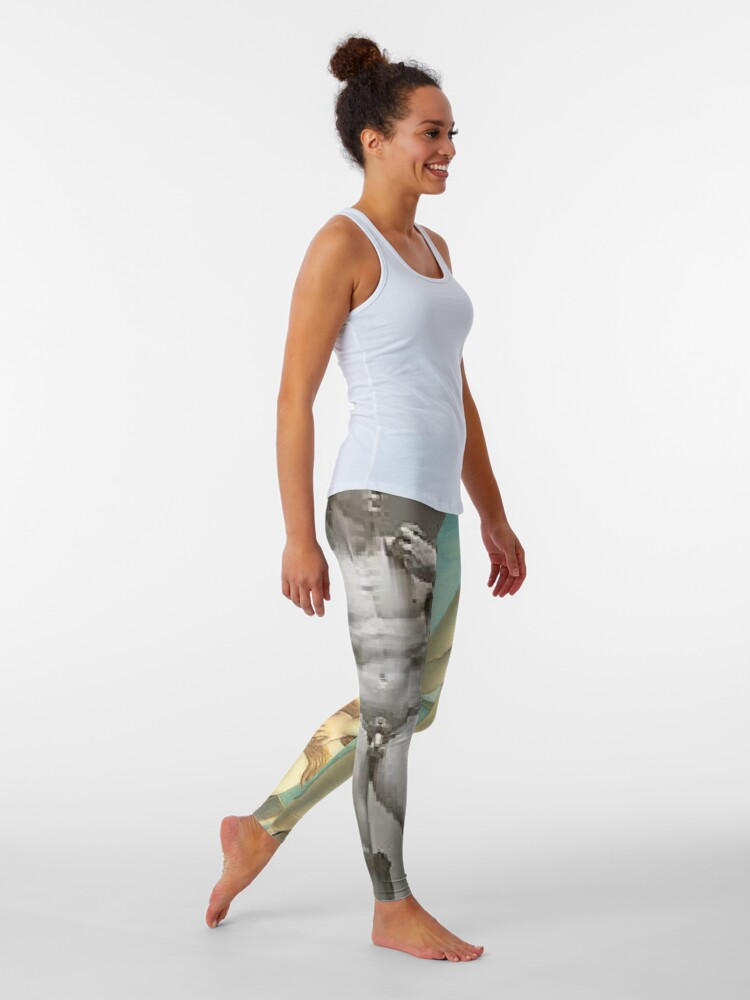 Alternate view of  Virtual Meeting of David and Aphrodite  #Virtual #Meeting #David #Aphrodite  Leggings