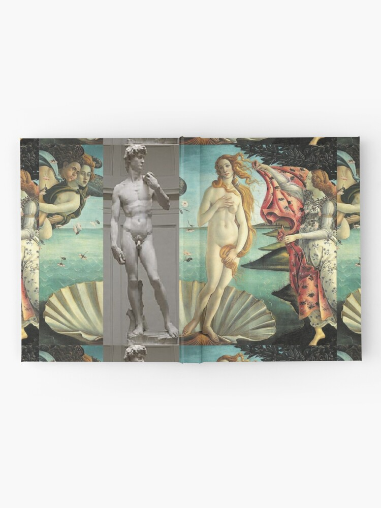 Alternate view of  Virtual Meeting of David and Aphrodite  #Virtual #Meeting #David #Aphrodite  Hardcover Journal