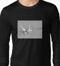 F-18 Hornet jet fighter aircraft [comics edition 4] Long Sleeve T-Shirt