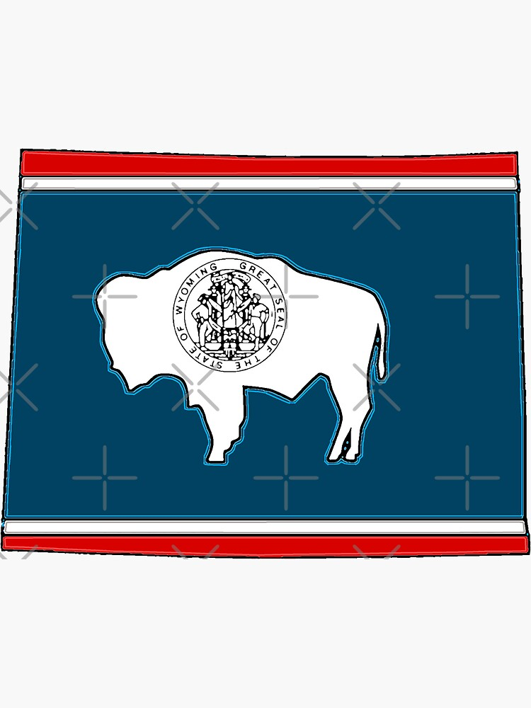 Wyoming Map With Wyoming State Flag by Havocgirl