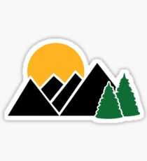 Mountains trees Sticker