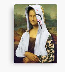 Bape Mona Lisa Canvas Print