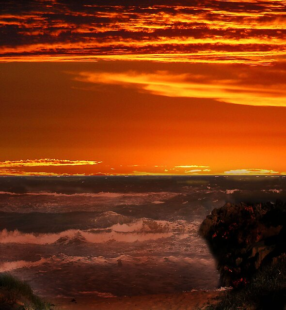 Indian Ocean sunset by georgieboy98